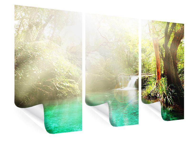 Poster 3-teilig Die grüne Lagune