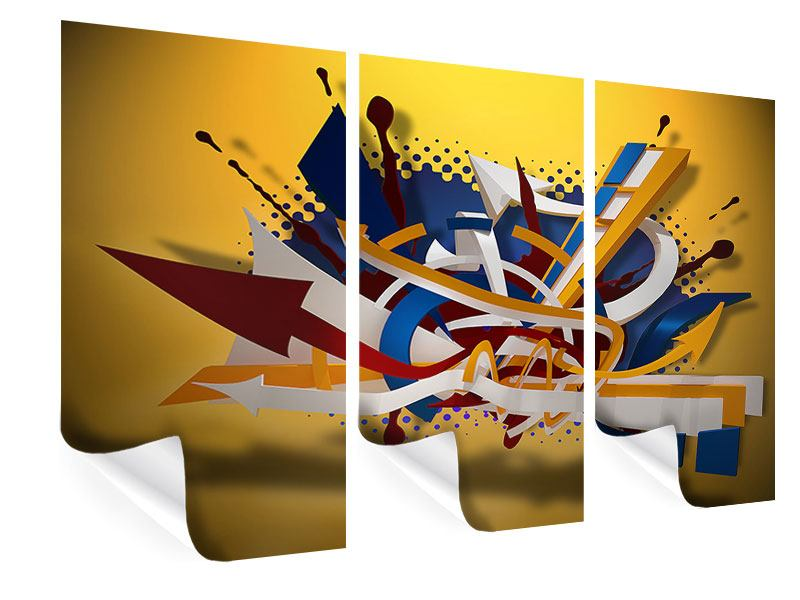 Poster 3-teilig Graffiti Art