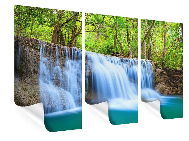 Poster 3-teilig Wasserfall Si Nakharin