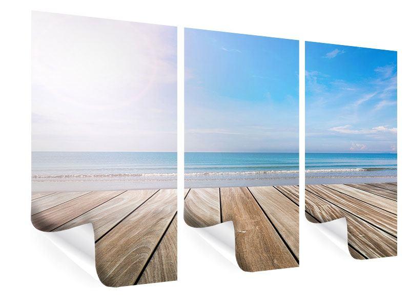 Poster 3-teilig Das schöne Strandhaus