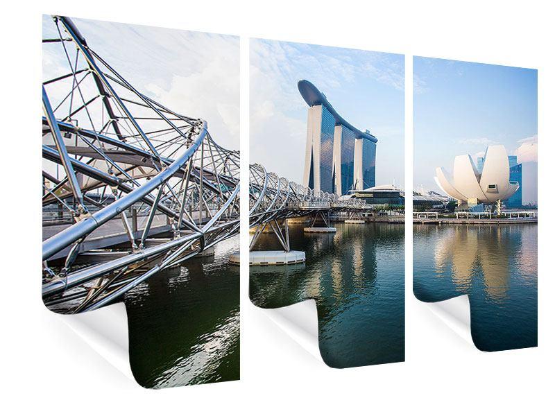 Poster 3-teilig Singapur