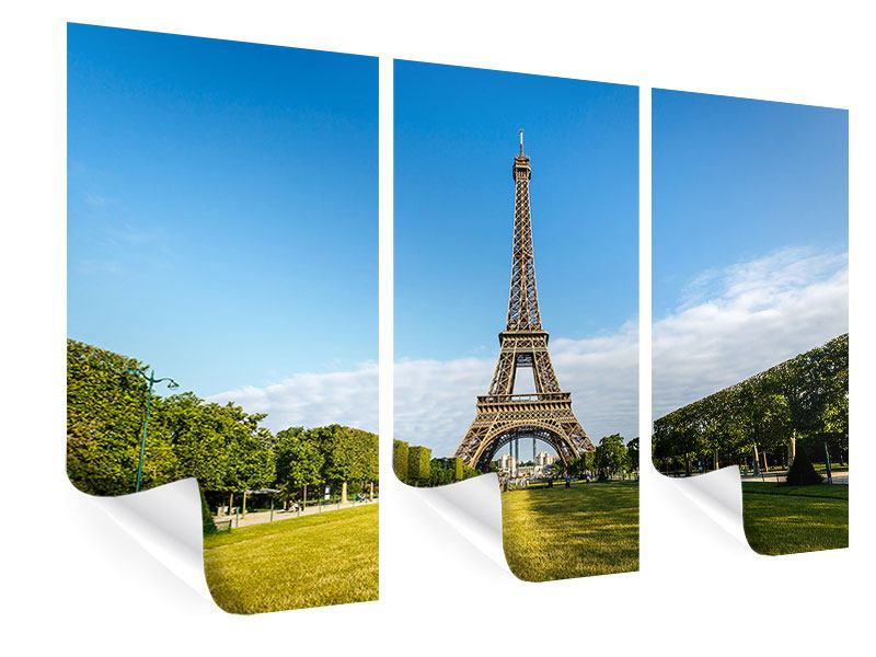 Poster 3-teilig Der Eiffelturm in Paris