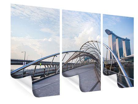 Poster 3-teilig Helix-Brücke