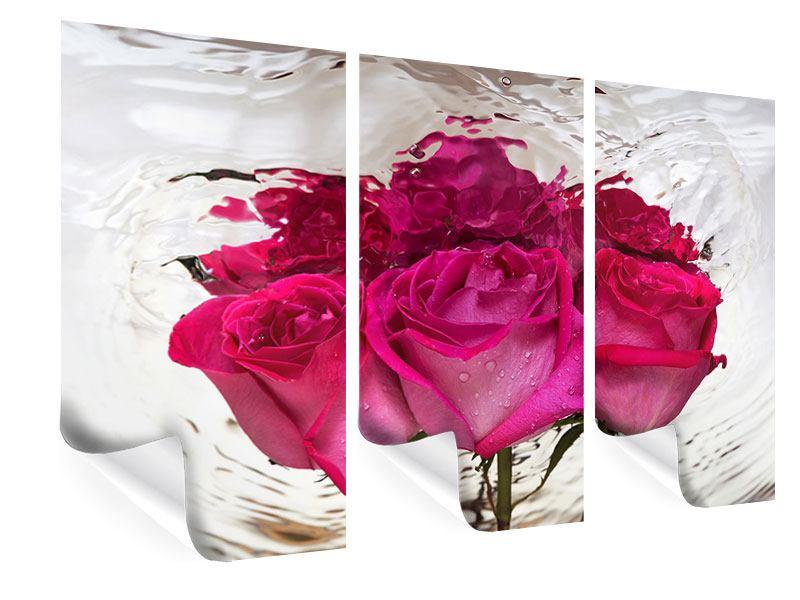 Poster 3-teilig Die Rosenspiegelung