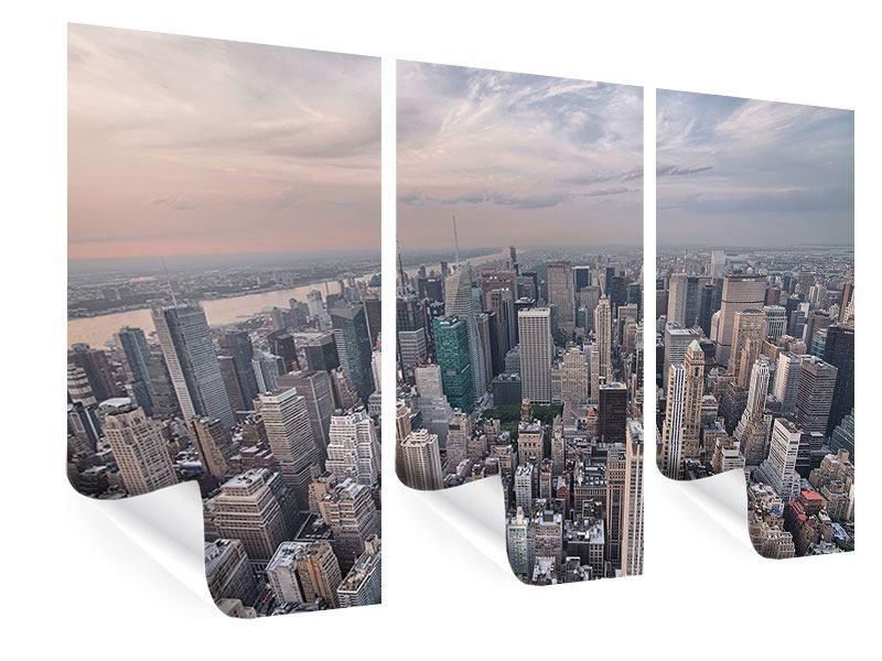 Poster 3-teilig Skyline Blick über Manhattan