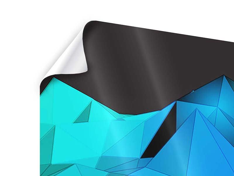 Poster 3-teilig 3D-Diamonds