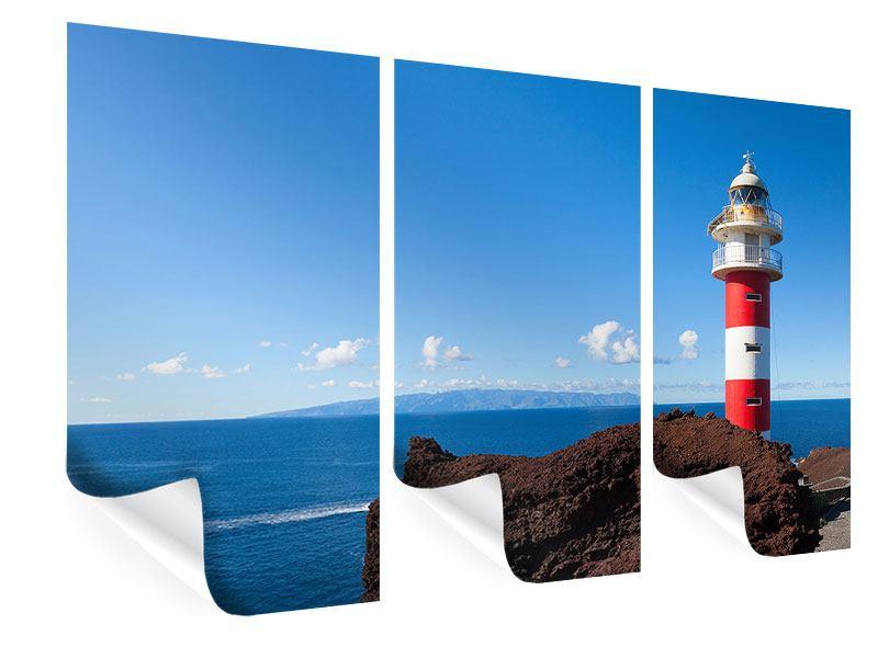 Poster 3-teilig Leuchtturm in Punta Teno