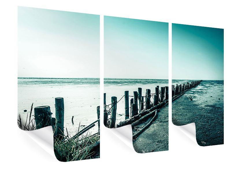 Poster 3-teilig Das Wattenmeer