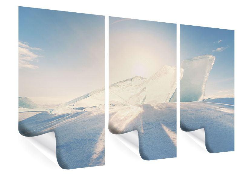 Poster 3-teilig Eislandschaft