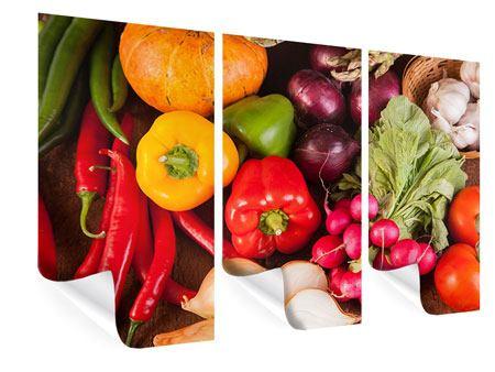 Poster 3-teilig Gemüsefrische