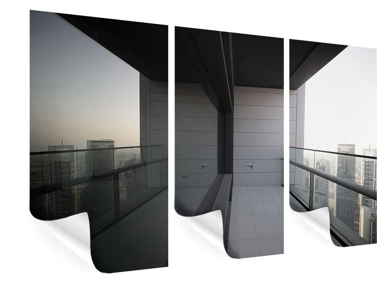 Poster 3-teilig Balkon in Dubai