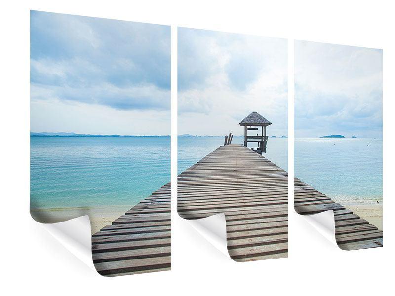 Poster 3-teilig Ozean-Steg