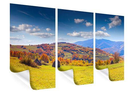 Poster 3-teilig Herbstliche Berglandschaft