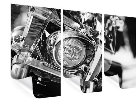 Poster 3-teilig Motorrad Close Up