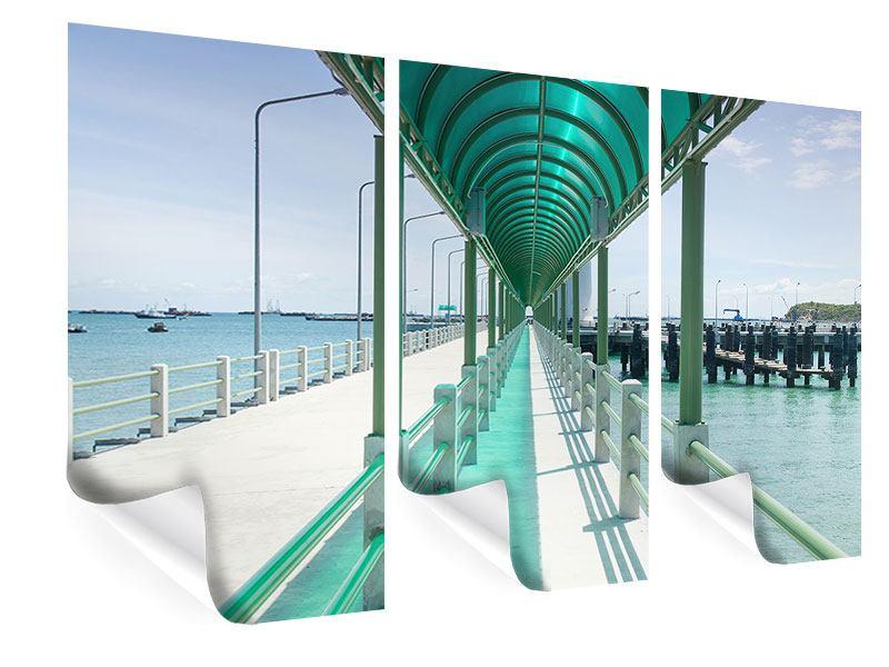 Poster 3-teilig Die Brücke am Meer