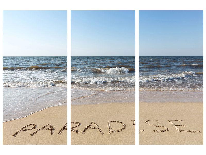 Poster 3-teilig Sandspuren