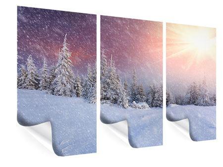 Poster 3-teilig Mystischer Schneesturm