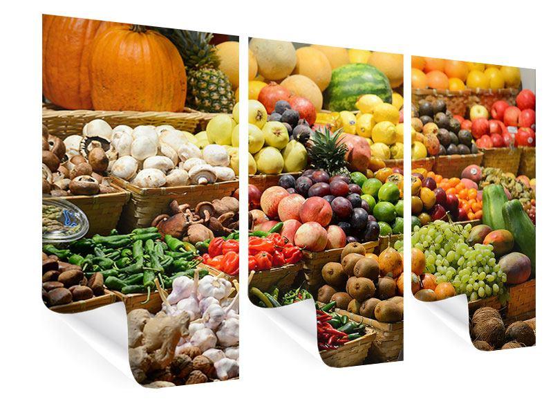 Poster 3-teilig Obstmarkt