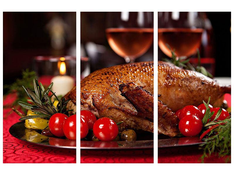 Poster 3-teilig Köstliches Geflügel