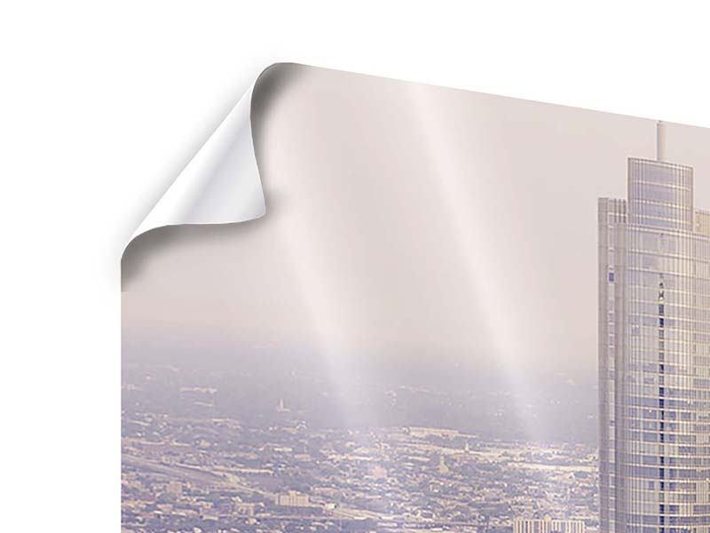 Poster 3-teilig Skyline Chicago in Sepia
