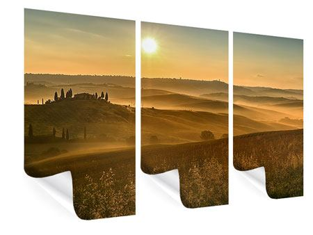 Poster 3-teilig Sonnenuntergang im Gebirge