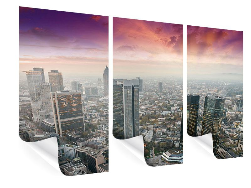 Poster 3-teilig Skyline Penthouse in New York