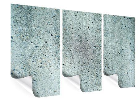 Poster 3-teilig Beton in Grau