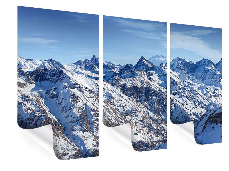 Poster 3-teilig Gipfelspitzen
