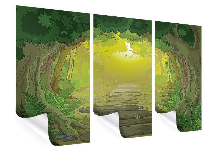 Poster 3-teilig Der Märchenwald