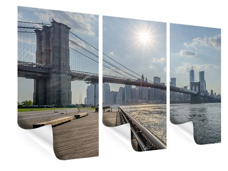 Poster 3-teilig Brooklyn Bridge