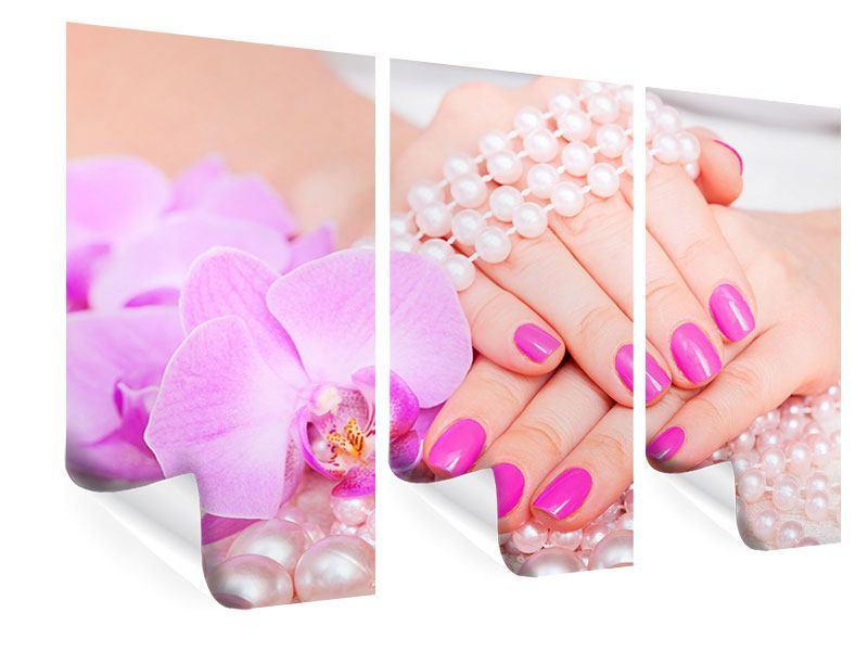 Poster 3-teilig Manikürte Hände