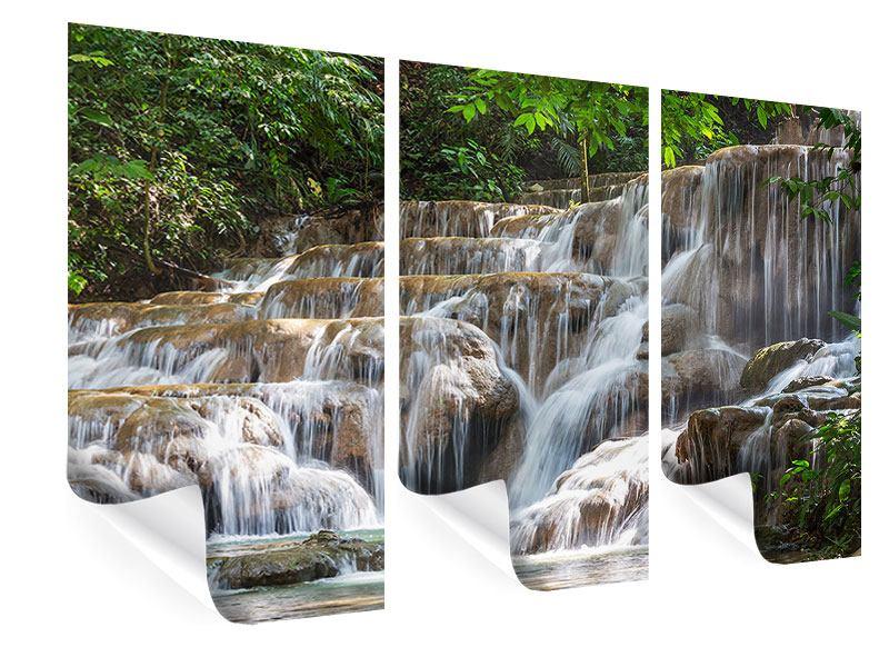 Poster 3-teilig Mexikanischer Wasserfall