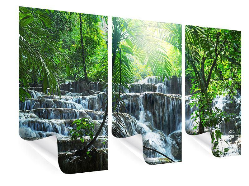 Poster 3-teilig Wasserfall Agua Azul