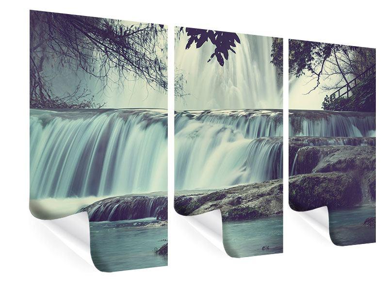 Poster 3-teilig Wasserfall Mexiko