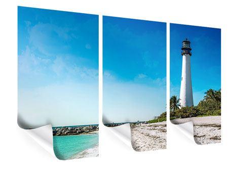 Poster 3-teilig Cape Florida Ligthhouse