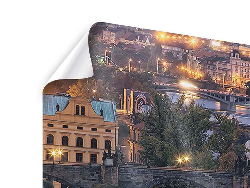 Poster 3-teilig Brücken in Prag