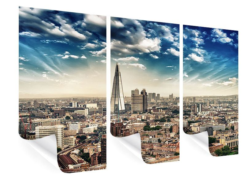 Poster 3-teilig Skyline Über den Dächern von London