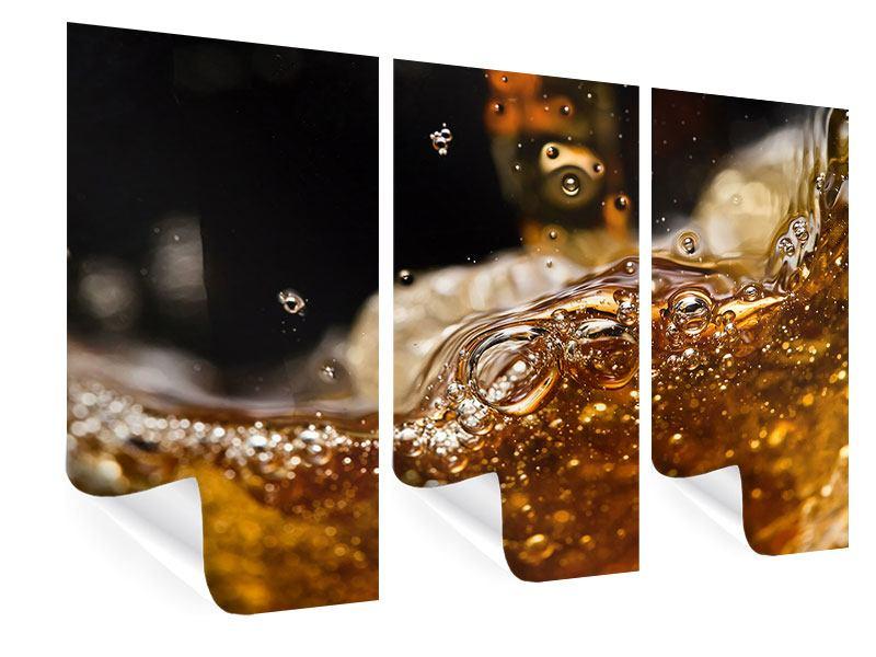 Poster 3-teilig Cognac