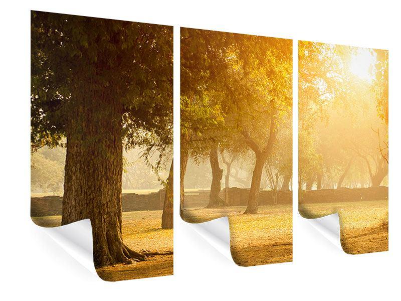 Poster 3-teilig Romantik unter Bäumen