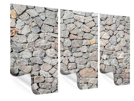 Poster 3-teilig Grunge-Stil Mauer