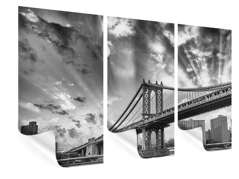 Poster 3-teilig Manhattan Bridge
