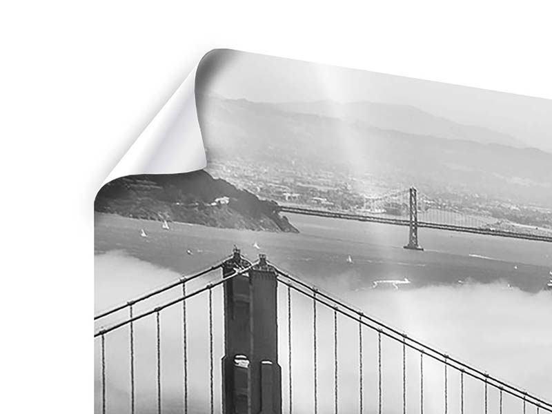 Poster 3-teilig Golden Gate Brücke