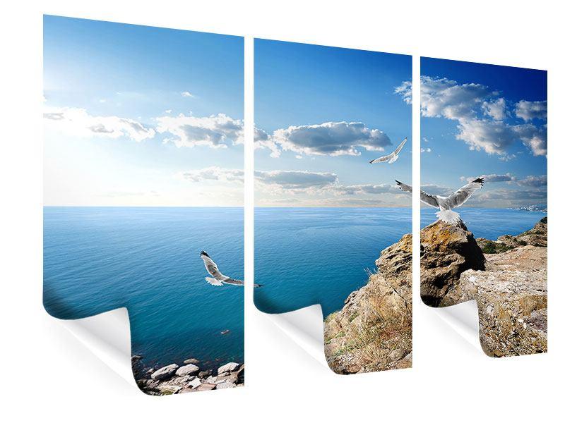 Poster 3-teilig Die Möwen und das Meer