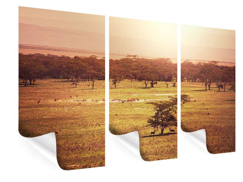 Poster 3-teilig Malerisches Afrika