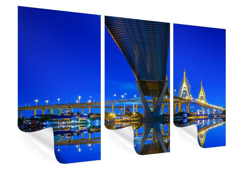Poster 3-teilig Bhumiboll-Brücke