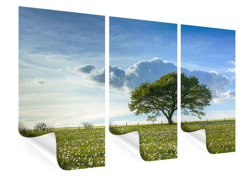 Poster 3-teilig Frühlingsbaum