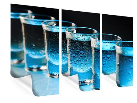 Poster 3-teilig Wodka Pur