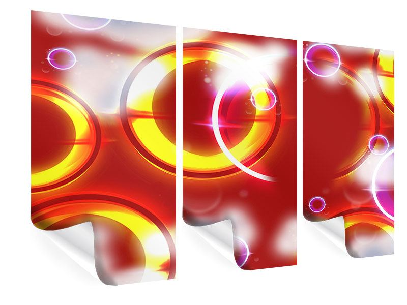 Poster 3-teilig Abstraktes Retro
