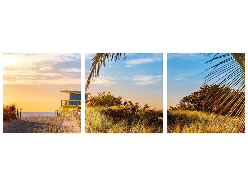 Panorama Poster 3-teilig Sandkörner