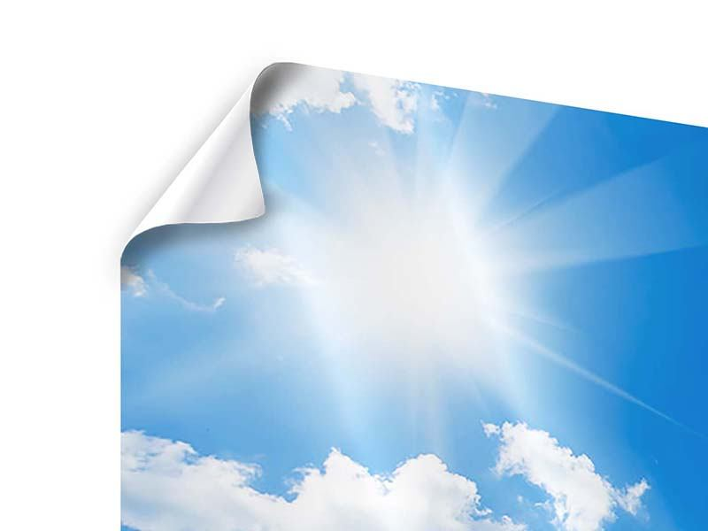 Panorama Poster 3-teilig Himmelblau